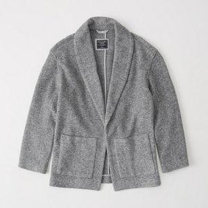 Warm & Cozy Grey Wool Blazer Coat